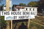 A completed Habitat house